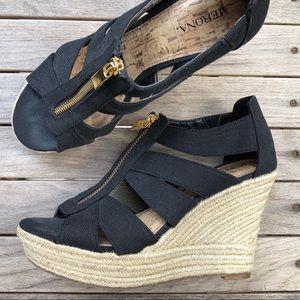 Merona Black Wedge Sandal